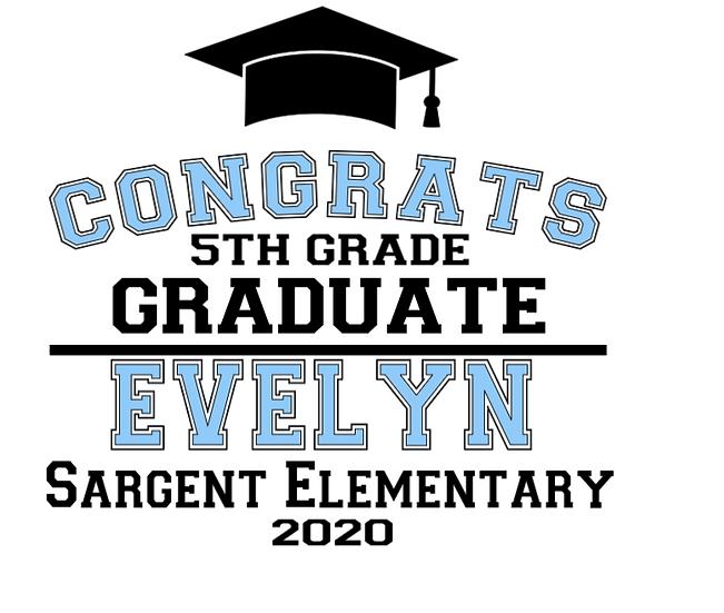 Sargent Elementary Graduation Garden Flag