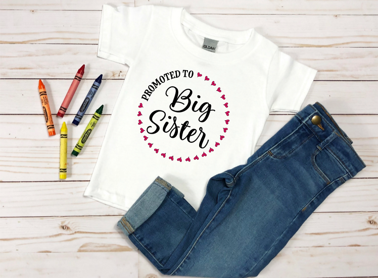 Toddler  Promoted Big SisterHeavy Cotton™ 5.3 oz. T-Shirt
