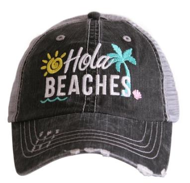 Hola beaches trucker hat