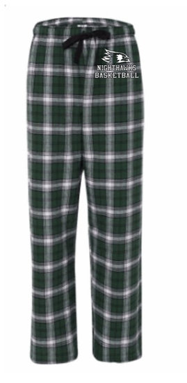 Green/White Unisex Flannel Pants With Pockets