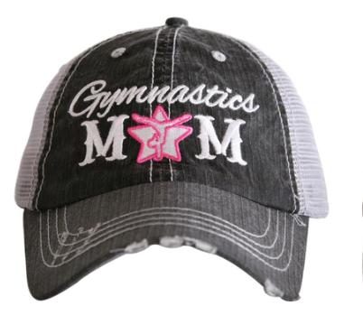Gymnastics mom trucker hat