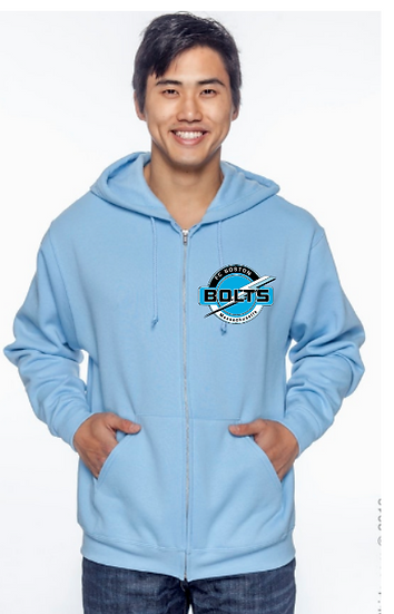 Adult Unisex 8 oz. NuBlend® Fleece Full-Zip Hood