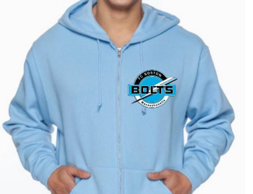 Adult Unisex 8 oz. NuBlend® Fleece Full-Zip Hood