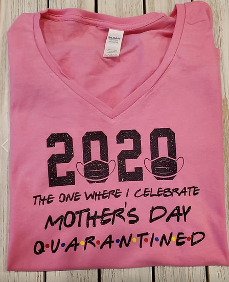 Ladies' Mother's Day Quarantined Lightweight T-Shirt