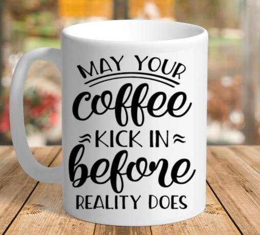 White Ceramic Reality Mug