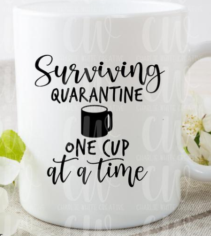 11 oz. One cup at a time White Ceramic Mug