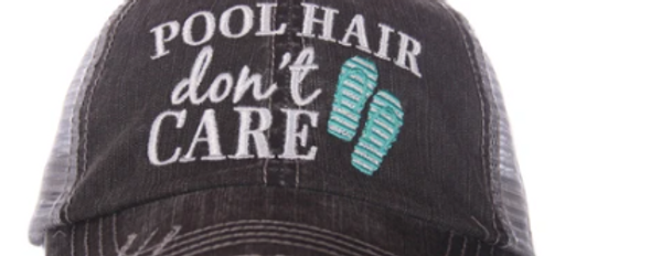 Pool Hair trucker hat