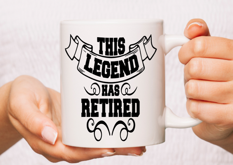 White Ceramic Retired Mug