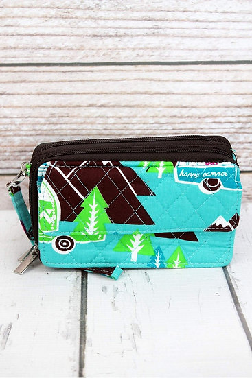 Camping Quilted Clutch