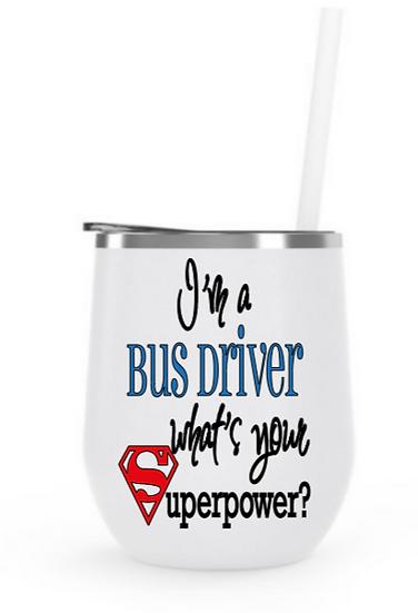 bus driver steel tumbler