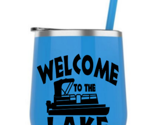Welcome to the Lake steel tumbler