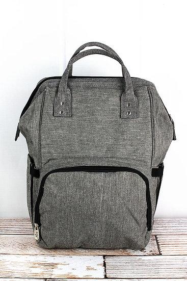 Steele Gray Diaper Backpack