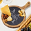 """Thumbnail: 14 1/2"""" x 10 1/2"""" Round Acacia Wood/Slate Serving Board with Handle"""