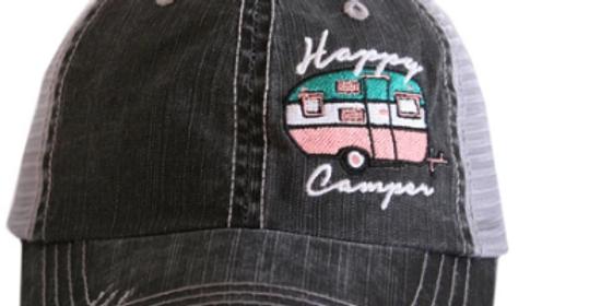Happy Camper side logo trucker hat