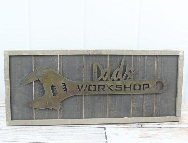 Dad's Metal Workshop Sign