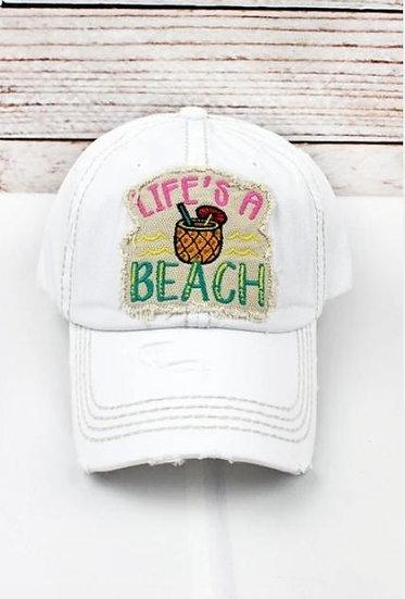Life's a beach white