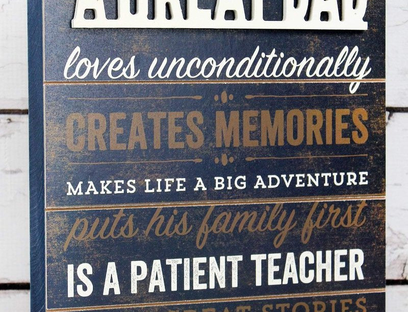 Great Dad Wooden Box Sign