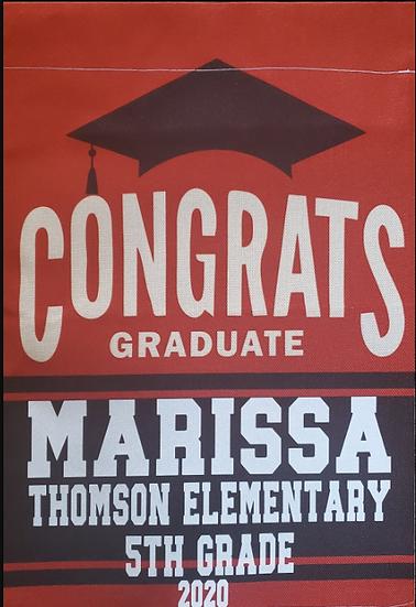 Thomson Elementary Graduation Garden Flag