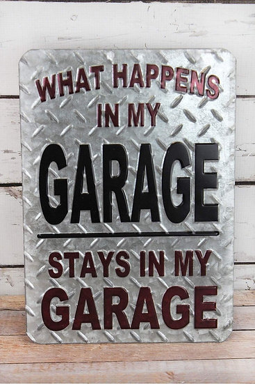 Punched Tin Garage Sign