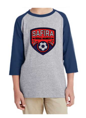 Youth Unisex Heavy Cotton™ 5.3 oz. 3/4-Raglan Sleeve T-Shirt