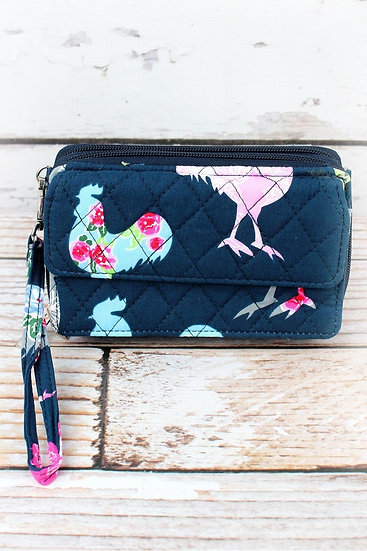 Rooster Quilted Clutch