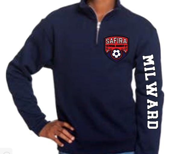 Youth Unisex 8 oz. NuBlend® Quarter-Zip Cadet Collar Sweatshirt