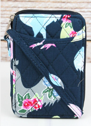 ROSY ROOSTERS QUILTED WRISTLET