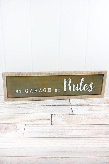 My Garage Metal Sign