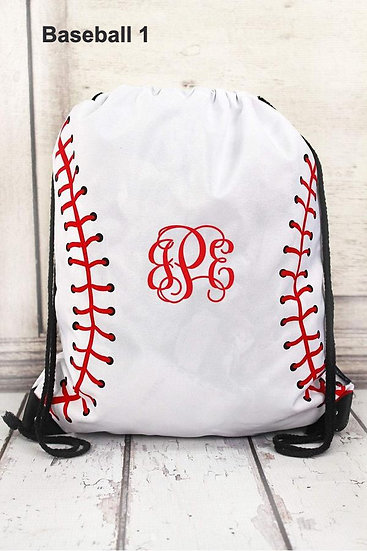 Baseball/Softball Drawstring Bags