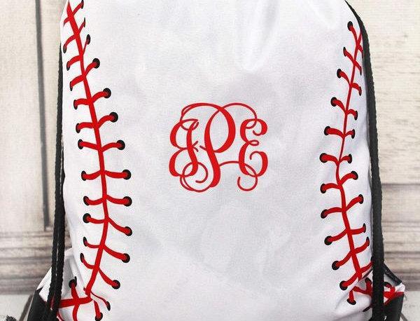 Baseball/Softball Drawstring Bags