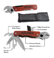 "6 1/2"" Wrench Multi-Tool with Wood Handle/Bag or Hammer"