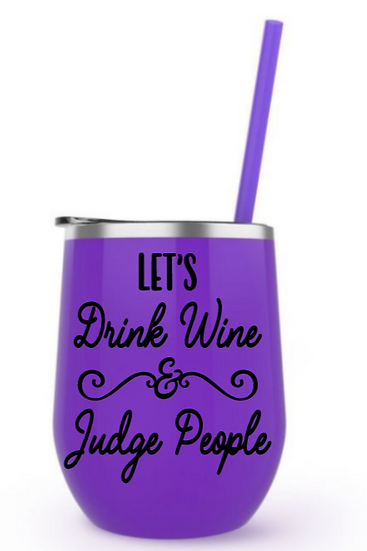 Judge people steel tumbler