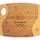 "Thumbnail: 13 3/4"" x 11"" x 5/16"" Bamboo Two Tone Cutting Board with Handle"