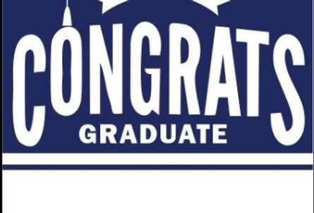 Navy Blue Graduation Garden Flag