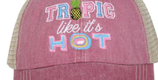 Tropic like it's hot trucker hats