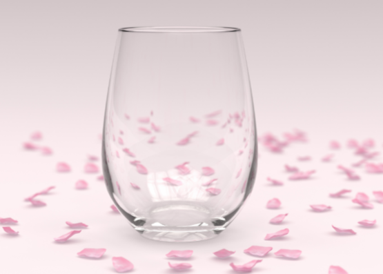 Add your own message to a stemless wine glass