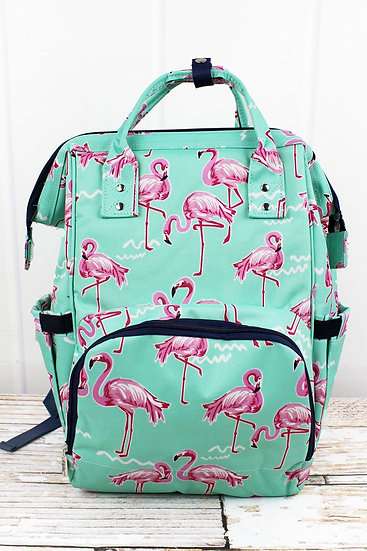Flamingo Dance Diaper Backpack