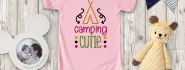 Camping cutie onesie
