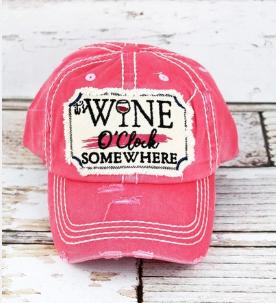 Wine o'clock Hat