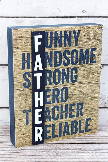 """Father"" Wooden Box Sign"