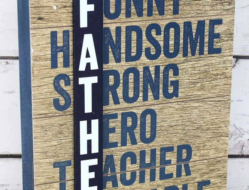 """""""Father"""" Wooden Box Sign"""