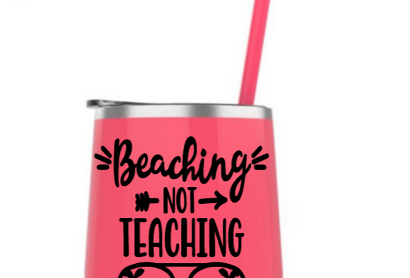 Beaching not teaching steel tumbler