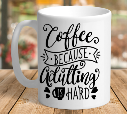 White Ceramic Adulting Mug
