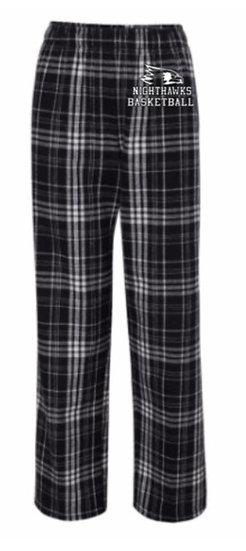 Black/Grey Youth Flannel Pants with Pockets