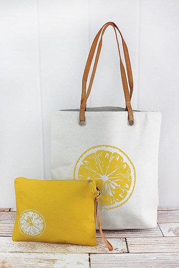 Lemon Tote Set