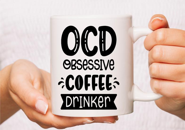 White Ceramic OCD life Mug