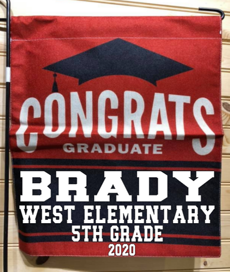 West Elementary Graduation Garden Flag