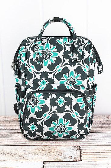 Serene Garden Diaper Backpack