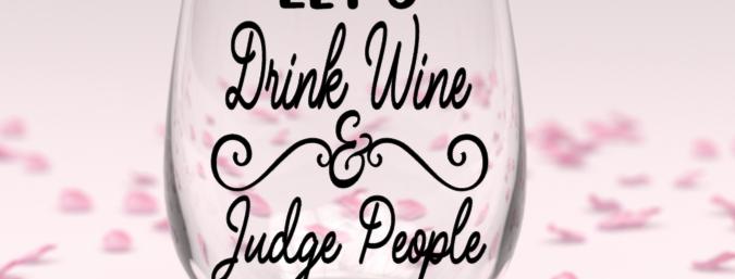 Drink wine stemless wine glass