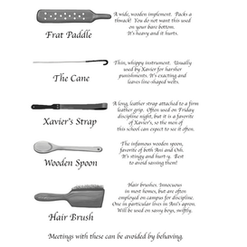 Glossary of Implements Final Version Art By: Artsy Ape